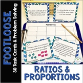 Ratios and Proportions Task Cards | Footloose Math Game &