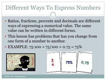 Ratios, Fractions, Percents, and Decimals PowerPoint