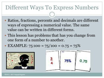Ratios, Fractions, Percents, and Decimals PowerPoint
