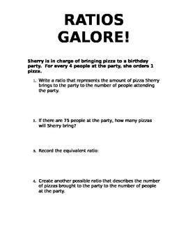 Ratios Galore! (Eureka lesson 3)