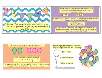Ratios-Lesson Flipchart, PowerPoint, Notes, and Worksheets