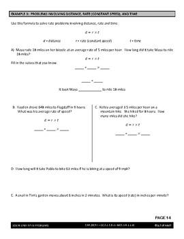 Ratios Lesson - Solve Unit Rate Problems (includes unit price & constant speed)