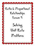 Ratios Lesson - Solve Unit Rate Problems (includes unit pr