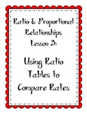 Ratios Lesson - Use Ratio Tables to Compare Rates