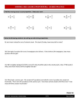 Ratios Lesson - Writing and Solving Proportions