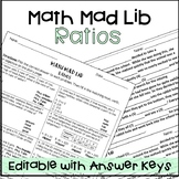 Ratios Math Mad Lib