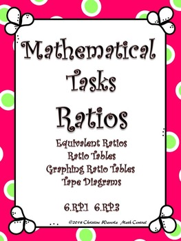 Ratios: Mathematical Tasks Equivalent Ratios, Ratio Tables, Tape Diagrams
