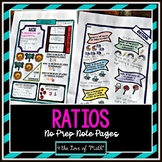 Ratios No Prep Note Pages