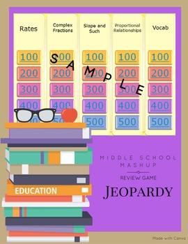 Ratios & Proportional Reasoning Jeopardy