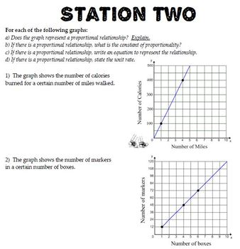 Ratios & Proportional Reasoning Station Review with Answer Key