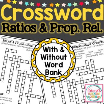 Ratios & Proportional Relationships Crossword Puzzle