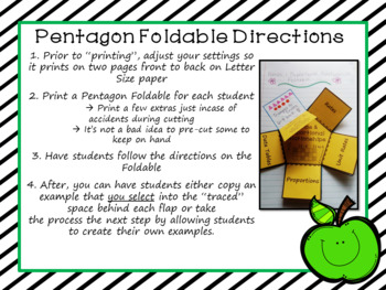 Ratios and Proportional Relationships Foldable