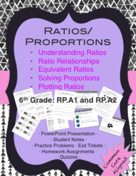 Ratios & Proportions Lesson Pack {6th grade 6.RP.A1&2}