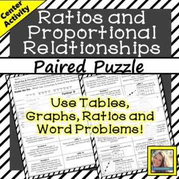 Ratios & Proportional Relationships: Paired Puzzle Activity
