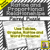 Ratios and Proportional Relationships Paired Puzzle Activity