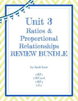 Ratios & Proportional Relationships Review Bundle