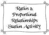 Ratios & Proportional Relationships Station Activity with