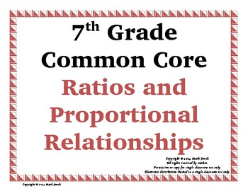 Ratios & Proportional Relationships Word Wall with Example & Spanish Translation
