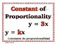 Ratios & Proportional Relationships Word Wall with Example
