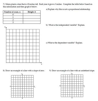 Ratios & Proportional Relationships Review - Classwork and Homework