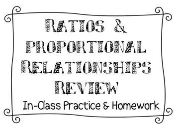 Ratios & Proportional Relationships Review (Homework)
