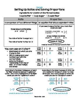 Ratios & Proportions Anchor Chart / Math Notebook Page