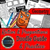 Ratios & Proportions Doodle Guide & Practice Worksheet; Ge