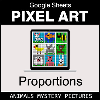 Ratios & Proportions - Google Sheets Pixel Art - Animals
