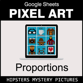 Ratios & Proportions - Google Sheets Pixel Art - Hipsters