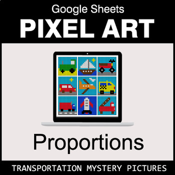 Ratios & Proportions - Google Sheets Pixel Art - Transportation