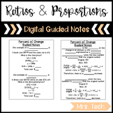 Ratios & Proportions Guided Notes - Digital