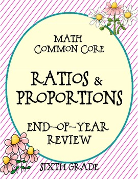 Ratios & Proportions Math Common Core Spiral Review