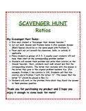 Ratios & Proportions: Scavenger Hunt