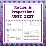 Ratios & Proportions Unit Test (Grade 7, Common Core Aligned)