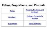 Ratios, Proportions, and Percents Bell Ringers Unit Rates