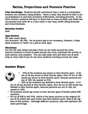 Ratios, Proportions and Percents QR Code Activity