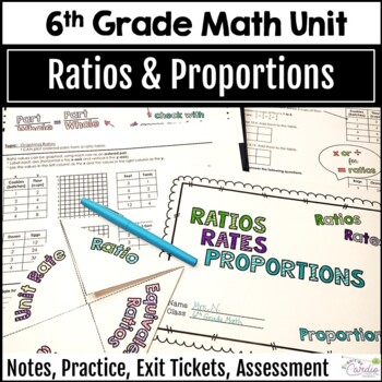 Ratios, Rates, Proportions Unit, 6th Grade Math, Editable