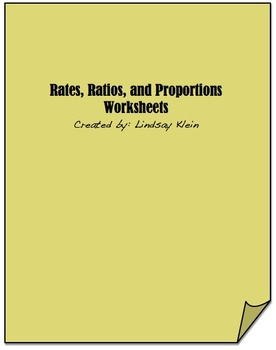 Ratios, Rates, Proportions Worksheets