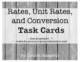 Ratios, Rates, Proportions, and Conversions TASK CARDS