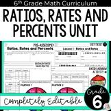 Ratios, Rates, Proportions and Percents Unit (6th Grade)