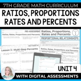 Ratios, Rates, Proportions and Percents Unit : 7th Grade Math