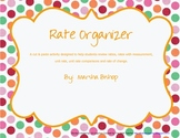 Ratios, Rates & Unit Rate Cut & Paste Organizer Review