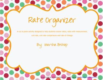 Ratios, Rates & Unit Rate Cut & Paste Organizer Review