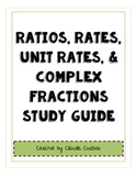 Ratios, Rates, Unit Rates, & Complex Fractions Study Guide