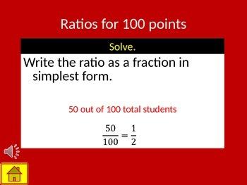 Ratios, Rates, Unit Rates, Fractions, Decimals & Percentages Review Game