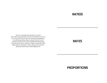 Ratios, Rates, Unit Rates and Proportions Foldable for Interactive Notebook.