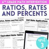 Ratios, Rates and Percents 6th Grade Intervention Unit