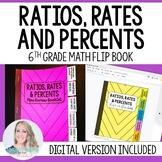 Ratios, Rates and Percents Mini Tabbed Flip Book for 6th Grade Math