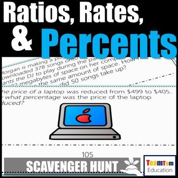 Ratios, Rates, and Percents Scavenger Hunt