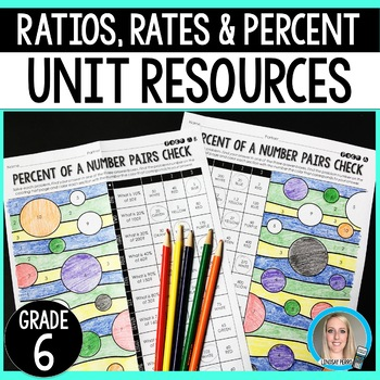 Ratios, Rates and Percents Unit Resources : 6th Grade